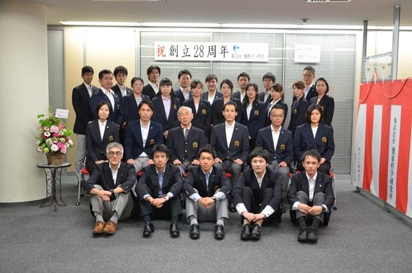 LOPS創立記念 28周年の社員集合写真